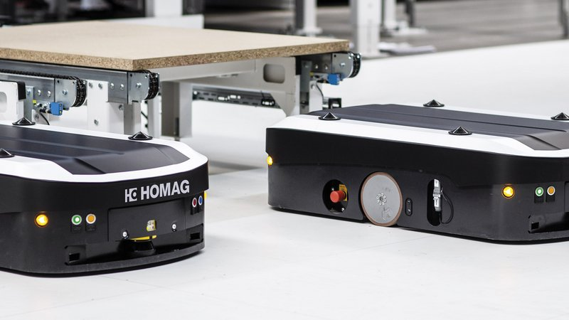 Automated guided vehicle system (AGV) TRANSBOT | HOMAG