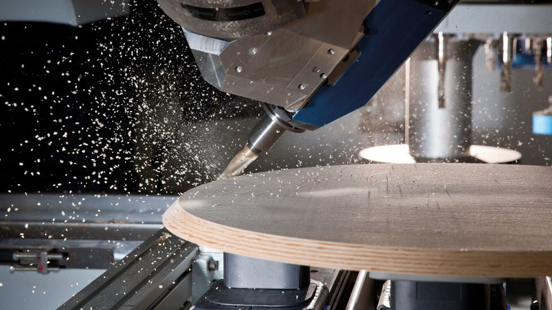 CNC-controlled machines offers high potential.