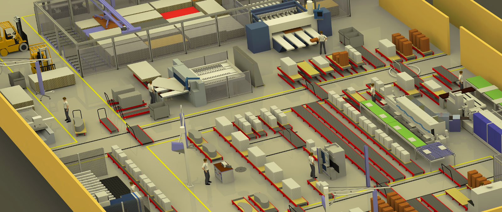 A part of the new factory layout of Nexis 3 in a 3D view